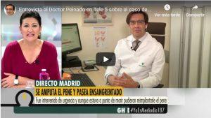Entrevista al Doctor Peinado en Tele 5 sobre el caso de una amputación de pene
