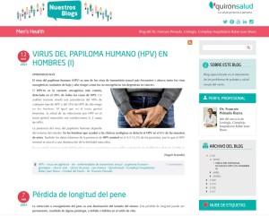 Blog men's health Grupo Quirón